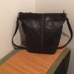 Valerie Stevens Bucket Bag / Black & Silver